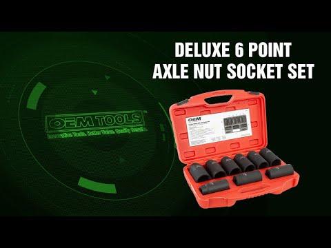 27188 OEMTOOLS™ Deluxe 6 Point Axle Nut Socket Set