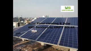 How to effectively Clean Solar Panels? (Hindi) Solar AMC services by UNIFY SOLAR