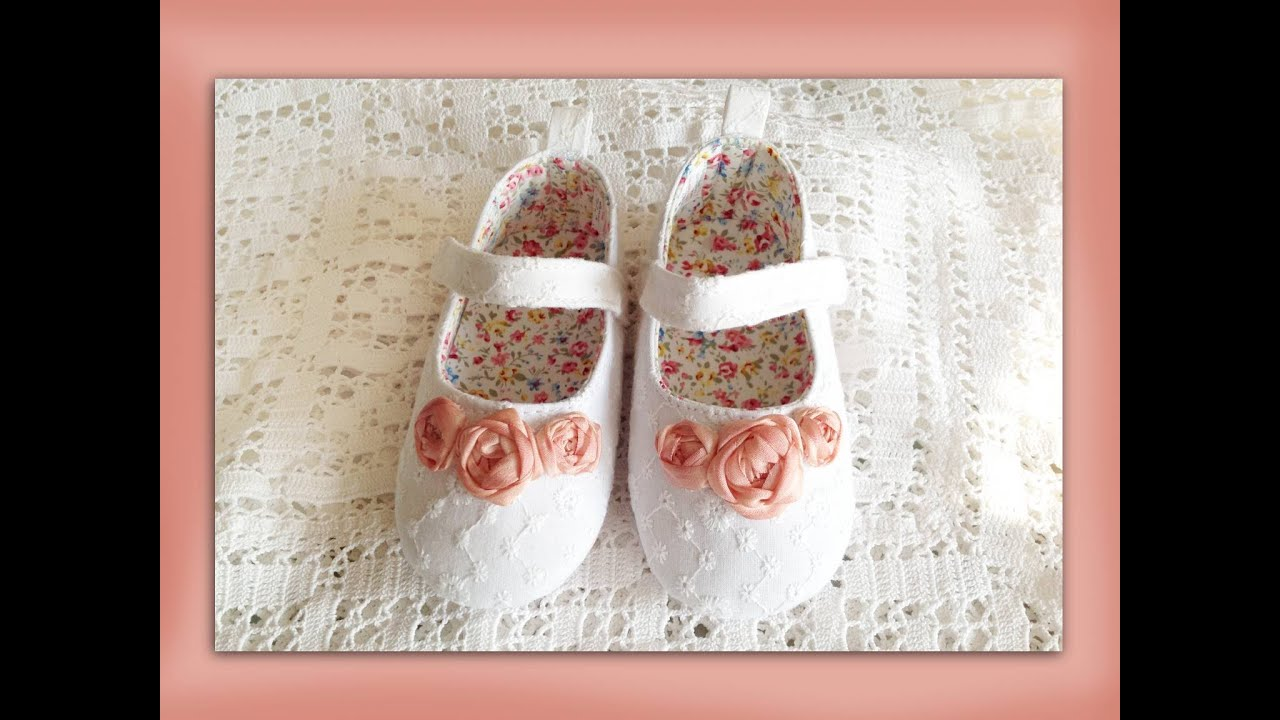 How To Make Silk Ribbon Embroidery Roses For Baby Shoes Youtube
