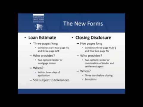 New Era in Closings:  CFPB Releases Final Rule for Integrated Mortgage Disclosures