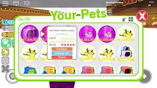 Roblox Pet Simulator I GOT D/M DOMINUS HUGE