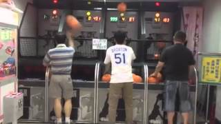 Old Asian man drains 100 Basketball Shots in a Row Shocks Competitior