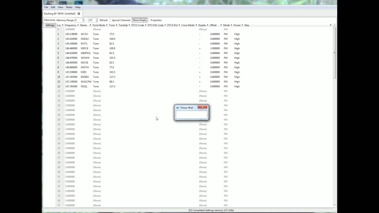 Program BAOFENG with CHIRP