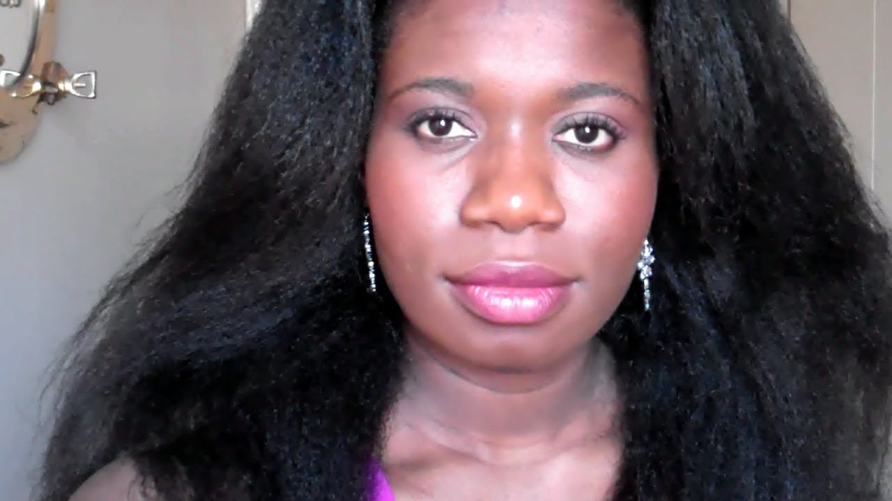 How To Grow Afro Hair:Relaxer/texlaxed Update. - YouTube