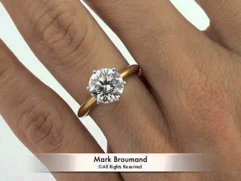 2 24ct Round Brilliant Cut Diamond Engagement Anniversary