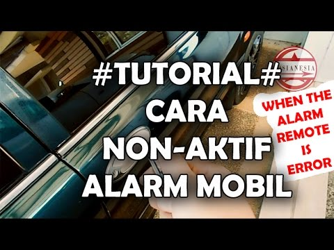 TUTORIAL - How To Deactivate Car Alarm