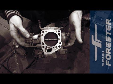 Чистим дроссельную заслонку на Subaru (ej20)