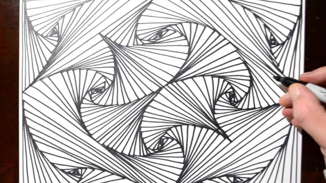 The Ultimate Doodle Sketching Technique - Pattern 12 - YouTube