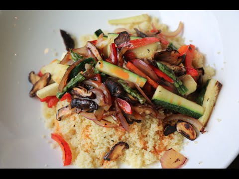 Stir Fried Veggie Cous Cous recipe by SAM THE COOKING GUY