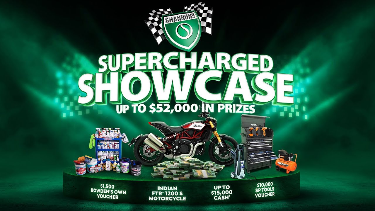 Win a Shannons Supercharged Showcase of prizes worth up to $52,000!