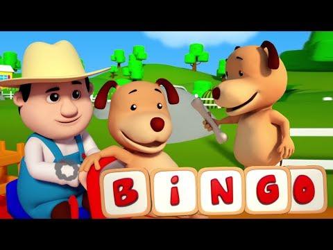 Bingo anjing lagu | muzik untuk kanak-kanak | 3D Farmees Songs | Children Rhymes | Bingo the Dog