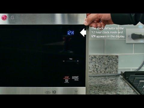 lg-neochef™---setting-the-clock-&-kitchen-timer