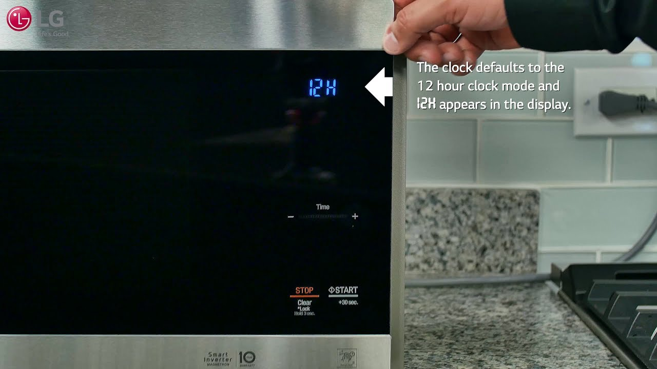 Lg Neochef Setting The Clock Amp Kitchen Timer Youtube