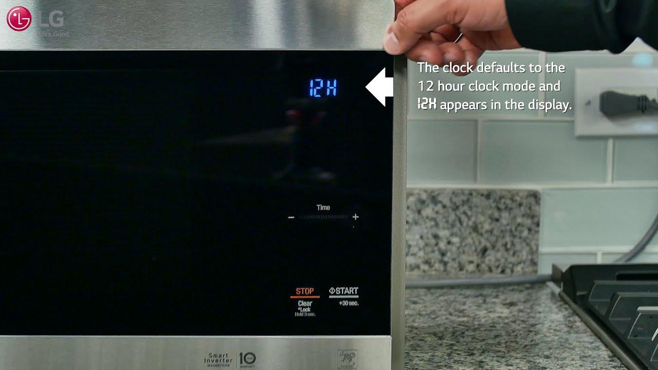 lg neochef setting the clock kitchen timer
