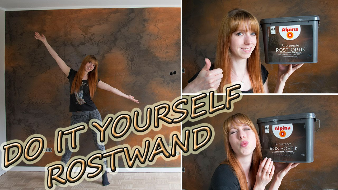 diy rostwand unsere wohnzimmerwand youtube. Black Bedroom Furniture Sets. Home Design Ideas
