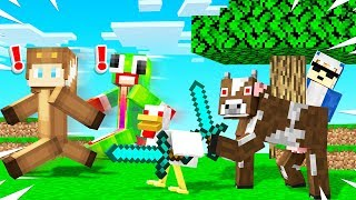 MINECRAFT But EVERYTHING ATTACKS YOU!