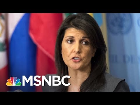 Nikki Haley Blasts Fellow President Trump Aide Kudlow Over Russia Sanctions | The 11th Hour | MSNBC