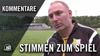 Die Stimmen zum Spiel (Horremer SV - FC Viktoria Manheim, Kreisliga B, Staffel 2, Kreis Rhein-Erft)