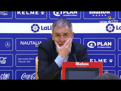 Rueda de prensa de Lucas Alcaraz tras el AD Alcorcón vs Real Zaragoza (2-0)