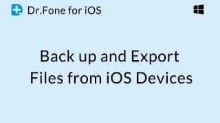 Dr.Fone for iOS: Back up and Export Files from iOS Devices