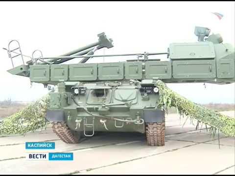 """В Касписйке отработал учебно-боевую задачу новейший зенитный ракетный комплекс """"Бук-М3"""" 2.04.18 г"""