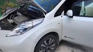 переделка с японской праворульной на леворульную Nissan leaf Грузия