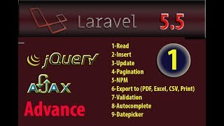 Laravel 5.5 Advance Read Data From Database With Ajax Jquery Part 1