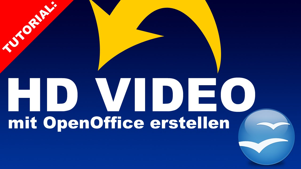 How to create a video presentation using open office free version.