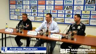 Pressekonferenz - 1. FC Magdeburg gegen VFC Plauen 4:2 (2:2) - www.sportfotos-md.de