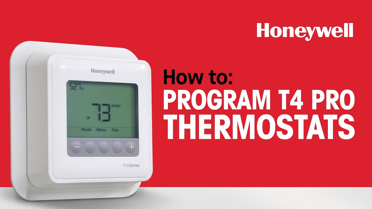 How To Program Honeywell T4 Pro Thermostats Youtube Structured Wiring Homepro S At A Glance