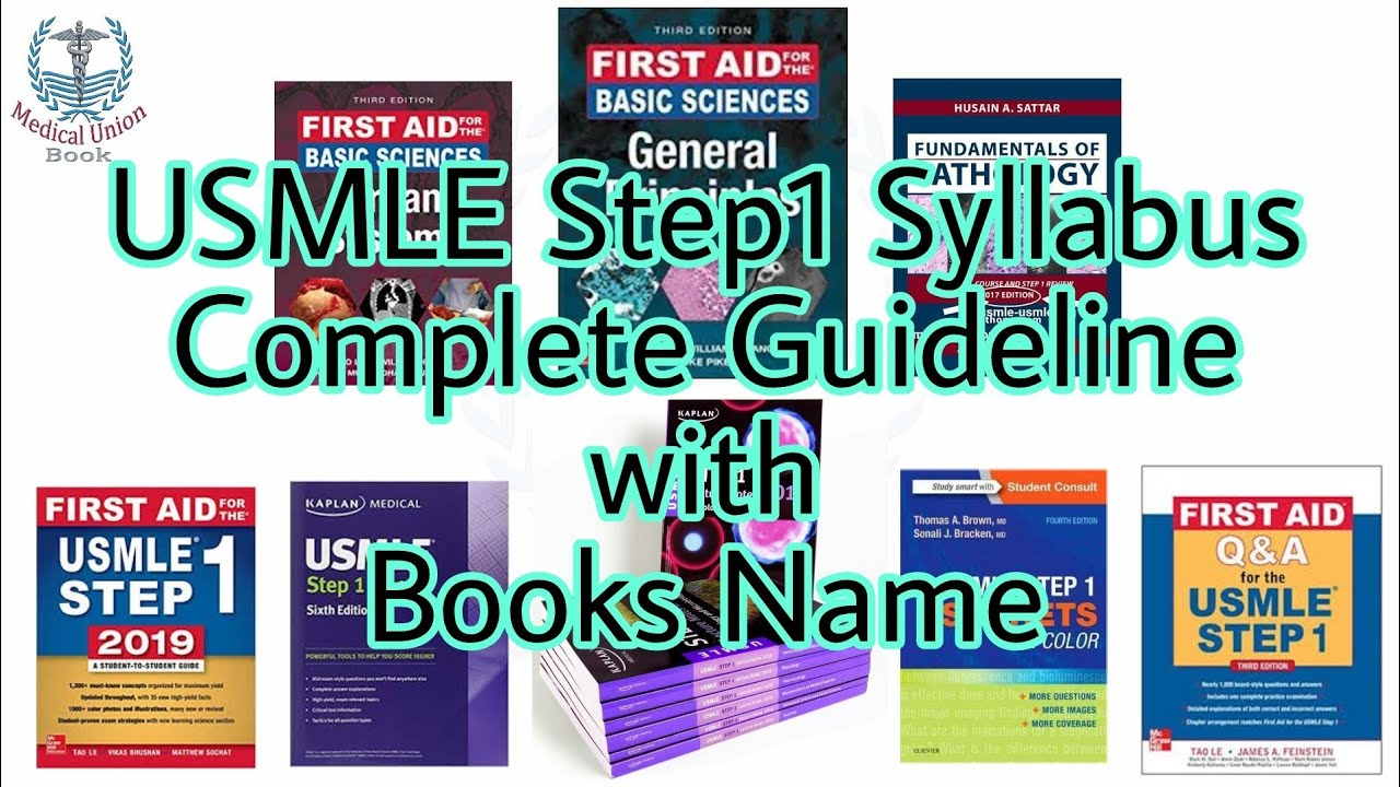 USMLE Step 1 Syllabus with Books Name | Basic & Helping & Easy Books |  Medical Union Book