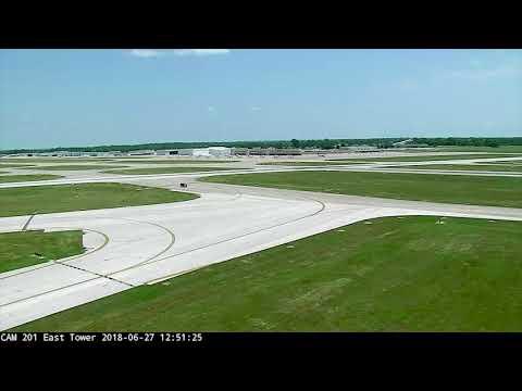Plane Just Misses Van Crossing Missouri Runway