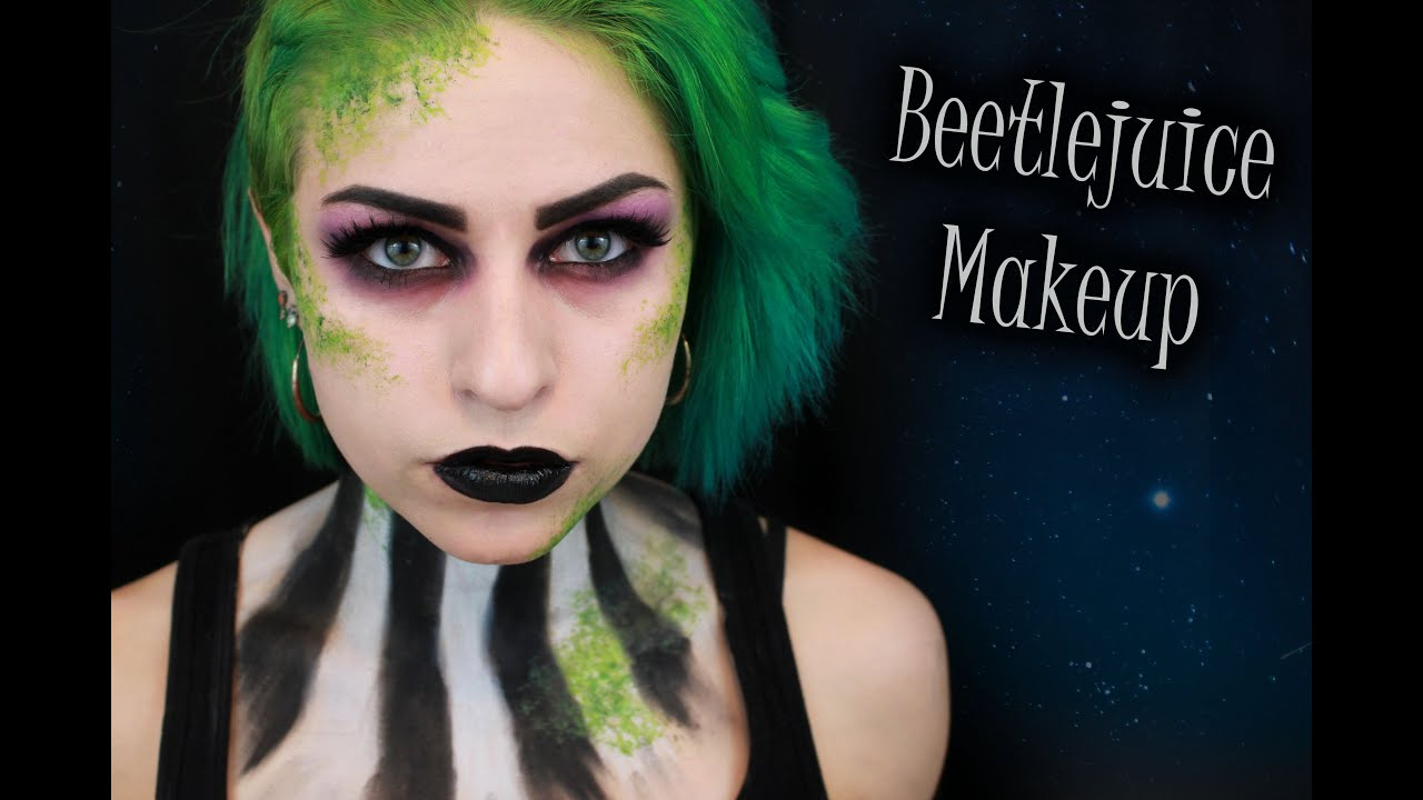 Glam Beetlejuice Halloween Makeup Tutorial - YouTube