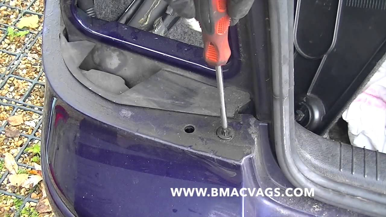 How To Remove A Vw Rear Bumper Youtube