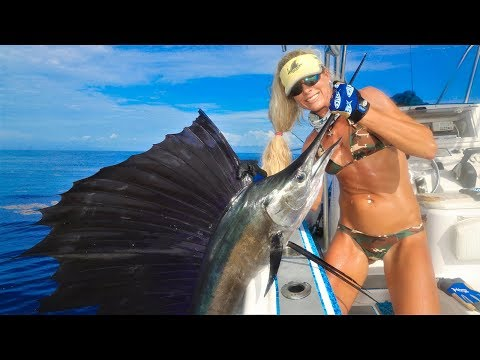Florida Offshore Fishing For Sailfish; The FASTEST Fish In The Sea!