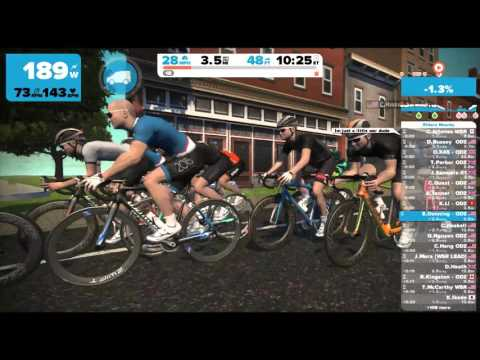 Zwift Tues 10/13/15 ODZ group ride/race session at Richmond, VA
