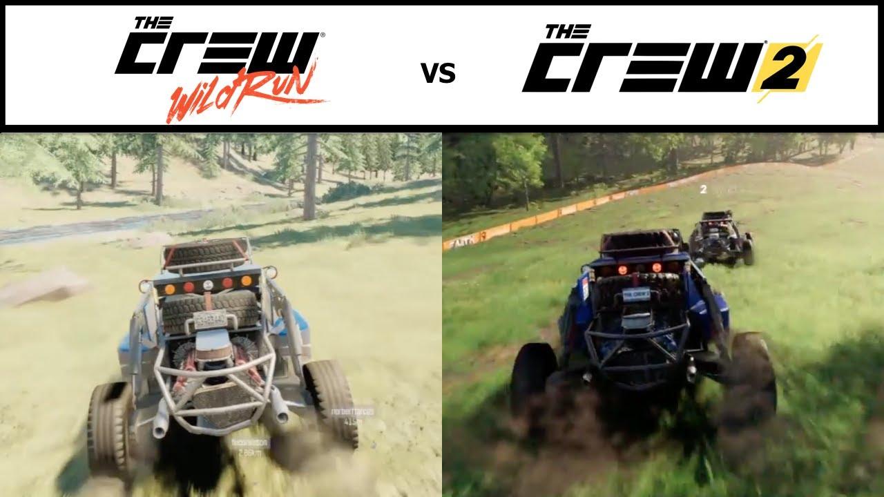 the crew 2 vs the crew wild run graphics comparison hd. Black Bedroom Furniture Sets. Home Design Ideas