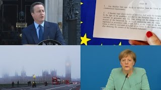 What is article 50?   Brexit and the EU referendum explained