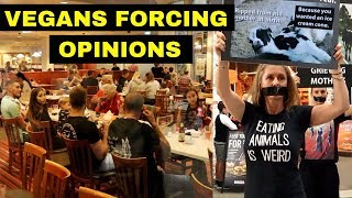Watch 'Extremist' Vegans Ruin Dinner For Meat Eaters!