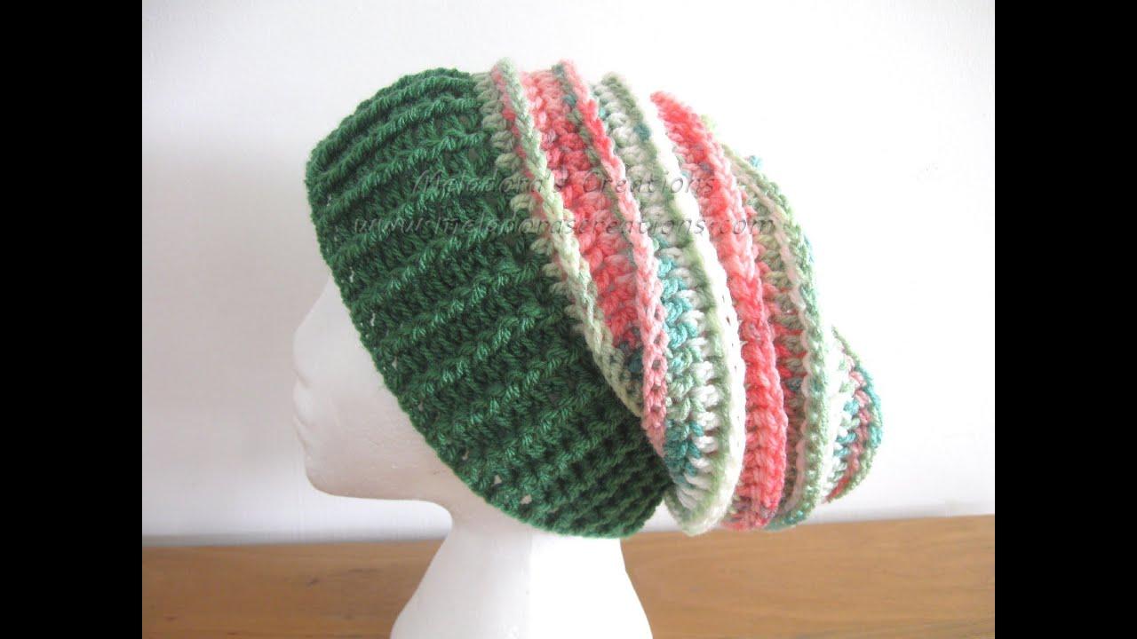 Riptide Slouch Hat - Left handed Crochet Tutorial - YouTube 3959a4c9e69