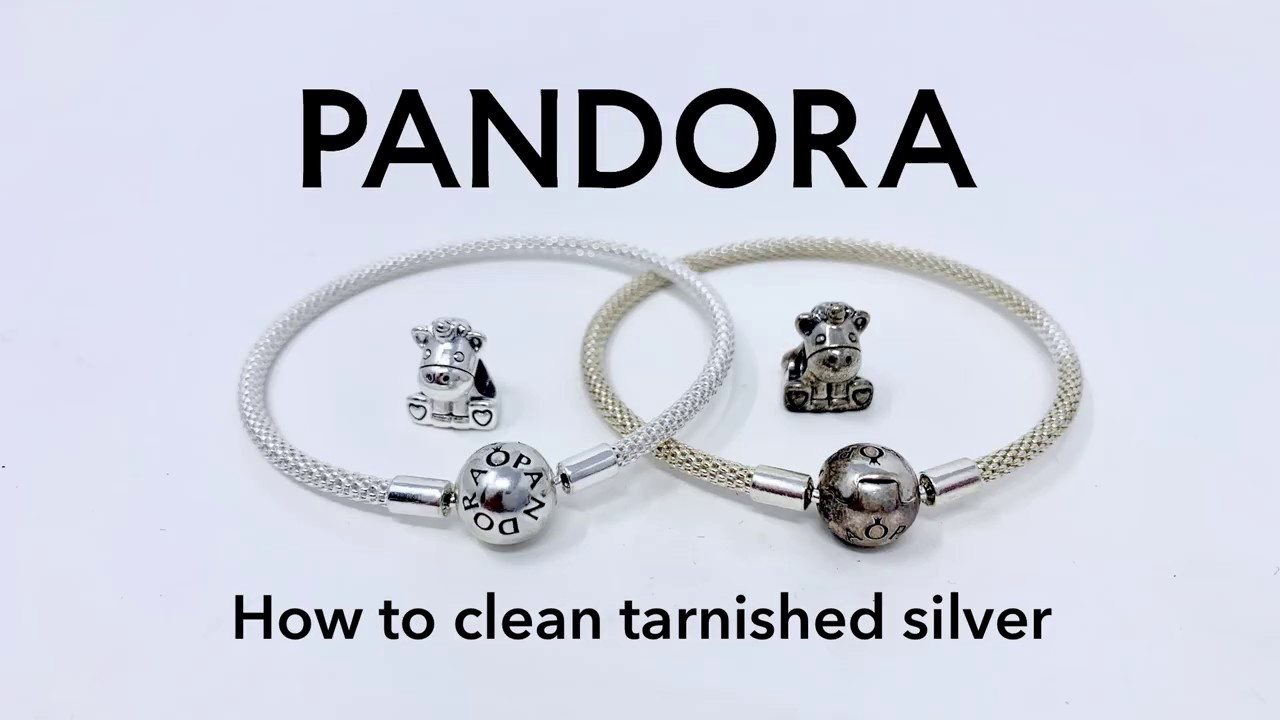 How To Clean Tarnished Pandora Silver Charms Bracelets And Other Jewellery Youtube