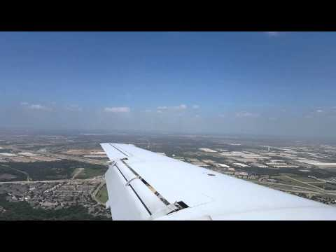 American E145 landing at Dallas-Fort Worth
