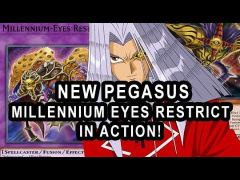 NEW PEGASUS  MILLENNIUM EYES RESTRICT IN ACTION WITH DECK PROFILE! SNATCH STEAL ALL THE MONSTERS!