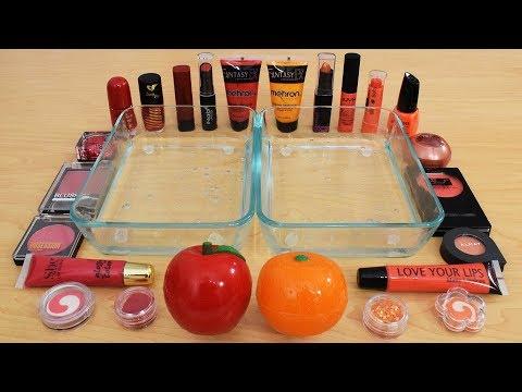 Apples vs Oranges - Mixing Makeup Eyeshadow Into Slime Special Series 191 Satisfying Slime Video