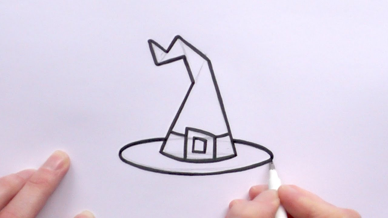 Uncategorized Easy To Draw Witch how to draw a cartoon witchs hat for halloween youtube