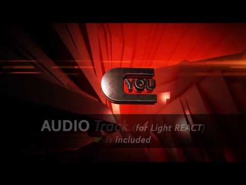 Neon Glass Audio React Logo After Effects template from #0: hqdefault