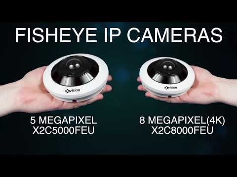 360 Degree Fisheye Cameras - Use With NVR, Web Interface, Mobile App