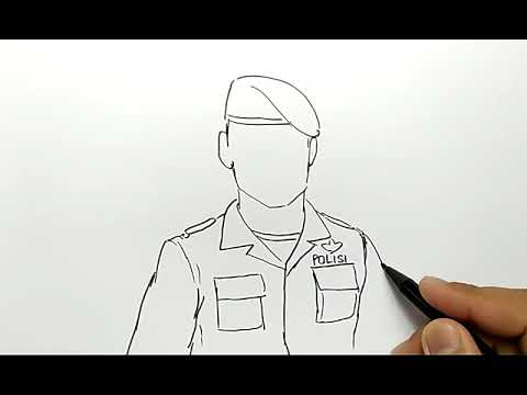 Cara Menggambar Polisi Brimob Ganteng Youtube