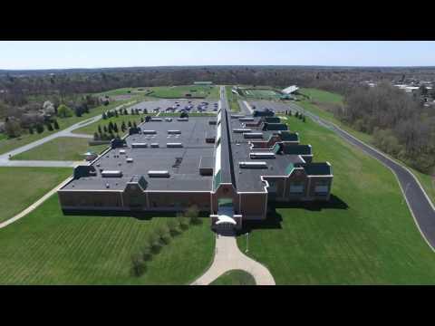 Tecumseh Michigan High School Aerial View