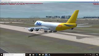 Microsoft Flight Simulator X: Taxi and take off at Incheon